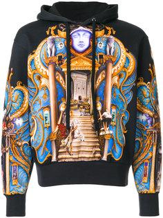 skater Olympus print hoodie Versace