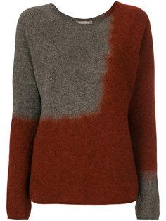 двухцветный свитер  Suzusan