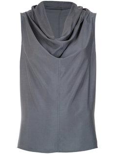 draped collar blouse Uma | Raquel Davidowicz