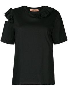 футболка с оборками и вырезными деталями Maggie Marilyn