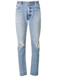 прямые джинсы скинни  Re/Done