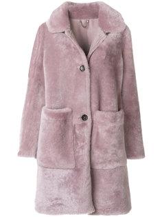 однобортное пальто из овчины Desa 1972