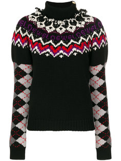 свитер с рукавами в рубчик  Loewe