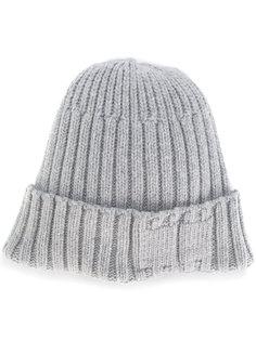 шапка ребристой вязки Stone Island Shadow Project