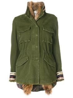куртка с вышивкой на рукавах Bazar Deluxe