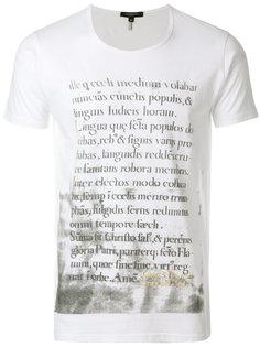 футболка с принтом Unconditional