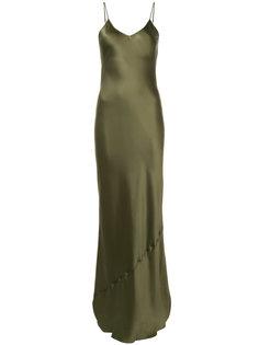 вечернее платье-комбинация на бретельках Nili Lotan