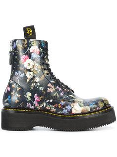 ботинки с цветочным принтом R13
