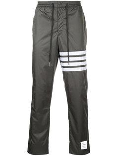 брюки прямого кроя с полосатым принтом Thom Browne