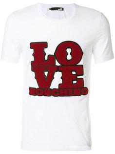 футболка с круглым вырезом с принтом Love Moschino