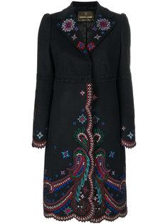 пальто с вышивкой  Roberto Cavalli