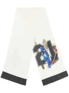 шарф с принтом перьев Astrid Andersen