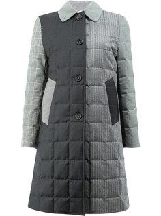 стеганое пальто в стилистике пэчворк Thom Browne