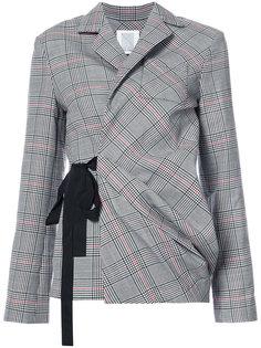 check wrap sash blazer Rosie Assoulin