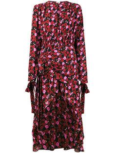 платье асимметричного кроя с цветочным принтом Gela Magda Butrym