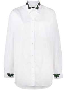 Shirt with Beaded Collar and Cuffs Simone Rocha