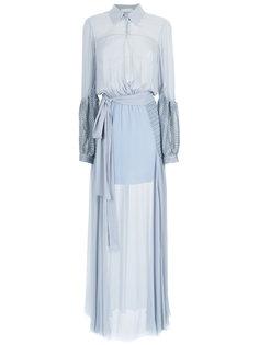 maxi silk dress Giuliana Romanno