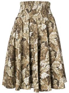 юбка с лиственным принтом Julien David