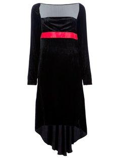 платье с контрастным поясом Krizia Vintage