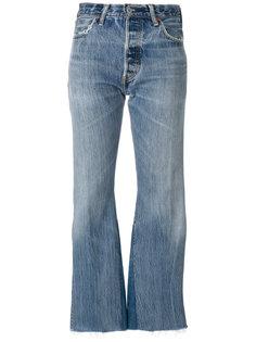 укороченные брюки клеш  Re/Done