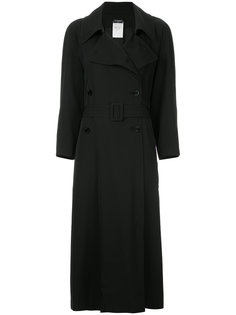double-breasted belted long coat Chanel Vintage