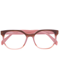 two tone rounded frame glasses Prada Eyewear