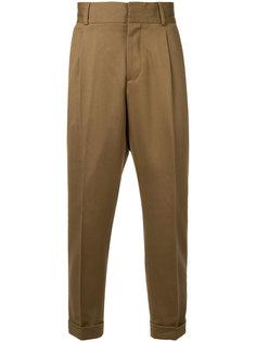 брюки-чинос с подвернутыми манжетами Kent & Curwen