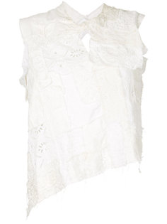 distressed lace patchwork top Junya Watanabe Comme Des Garçons Vintage