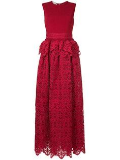 кружевное платье с баской Antonio Berardi