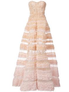 бальное платье А-образного силуэта с оборками J. Mendel