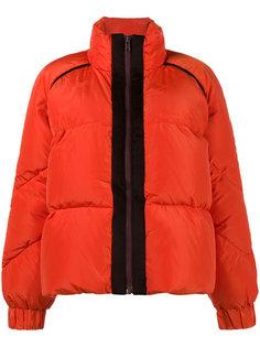 дутое пальто с контрастной отделкой Fountain Ganni