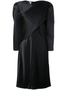 объемное платье с запахом Krizia Vintage