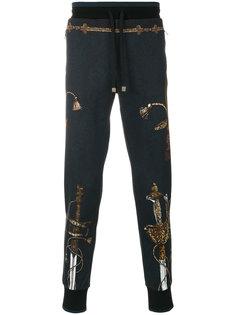 sword print track pants Dolce & Gabbana
