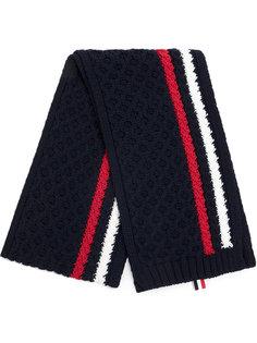 трикотажный шарф с полосками Thom Browne
