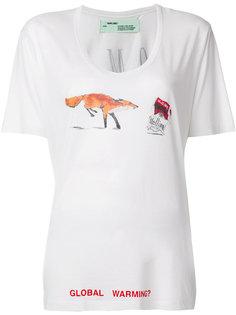 футболка свободного кроя с графическим принтом Off-White