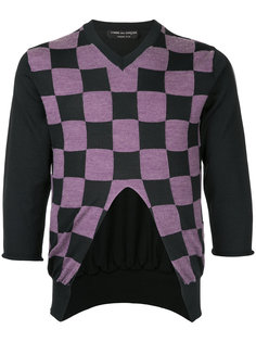 checkerboard knitted top Comme Des Garçons Homme Plus