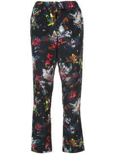cropped floral print trousers Tomas Maier
