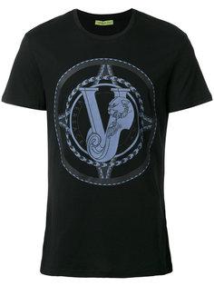 футболка с принтом тигра Versace Jeans