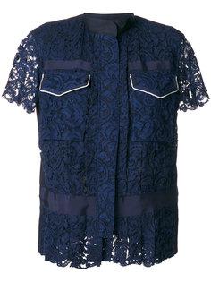 кружевная блузка с карманами  Sacai
