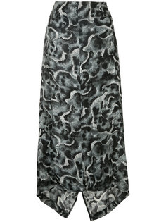 patterned asymmetric skirt Yohji Yamamoto Vintage