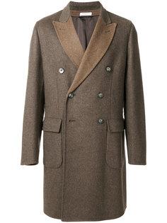 двубортное пальто в двух тонах Boglioli