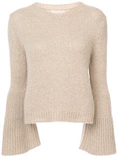flared sleeve cashmere jumper  Brock Collection