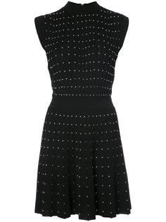 короткое платье с заклепками Balmain