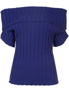 ribbed off the shoulder top Junya Watanabe Comme Des Garçons Vintage