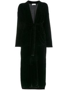 бархатный пиджак с запахом и вышивкой  Beau Souci