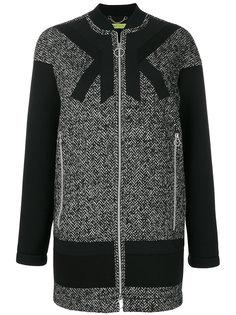 однобортное пальто на молнии Versace Jeans