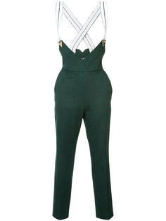 suspender cropped trousers Vionnet