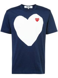 футболка с сердцем Comme Des Garçons Play