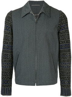 patterned sleeve jacket Comme Des Garçons Homme Plus