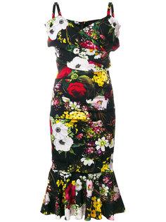 платье миди с принтом  Dolce & Gabbana